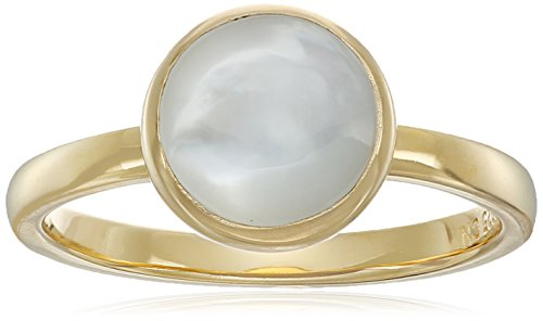 Gold Plated Sterling Silver Round Mother