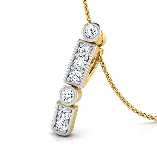 18K Or Blanc 0,07ct tw Round-cut-diamond (IJ | SI) Pendentif