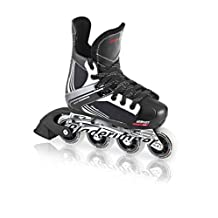 Bladerunner Youth Dynamo Adjustable Hockey Skate with 72mm Wheels, Black/White, Size 4 - 7 by Bladerunner