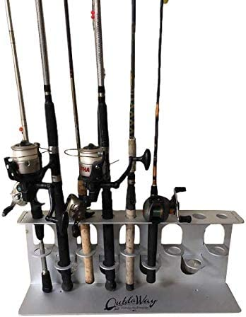 Amazon Com Outdaway Fishing Rod Storage Rack 1 Piece Holds Up To 9 Rods Reels Patented Sports Outdoors
