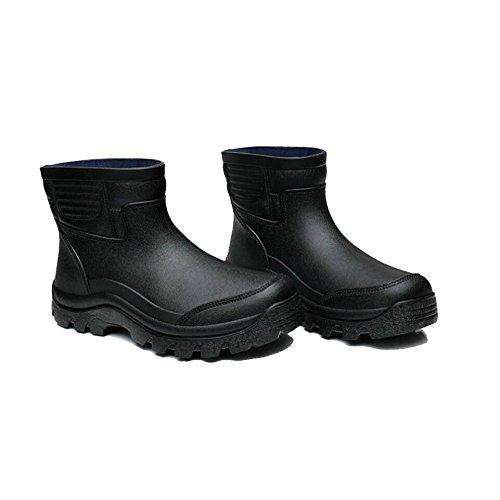 schwarz SISHUINIANHUA Regenstiefel//Herren Kurze Stiefel//Rutschfeste Wasserstiefel//Kochschuhe