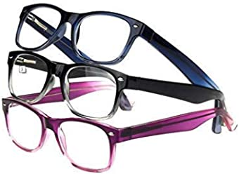 27214ac09797 Design Optics by Foster Grant Full Frame Ladies Fashion Reading Glasses (3  Count