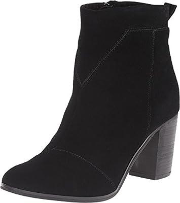 TOMS Women's Black Suede Leather Lunata Bootie - 12 B(M) US