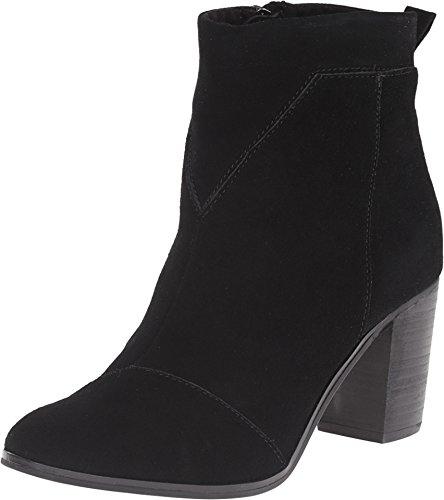 TOMS Women's Lunata Bootie Black Suede Boot 8 B