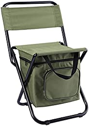 Camping Chair with Cooler Bag Folding Fishing Stool