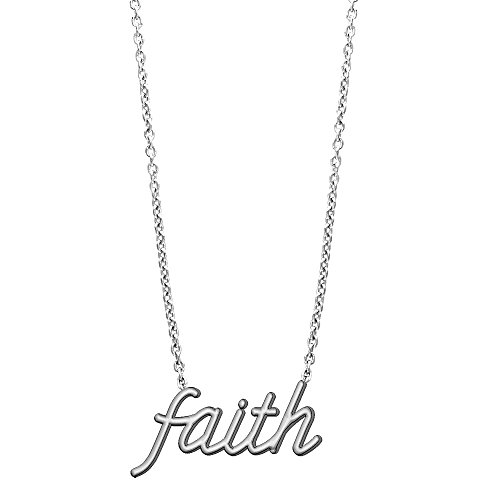 (Sziro Nameplate Jewelry Faith Necklace in Sterling)