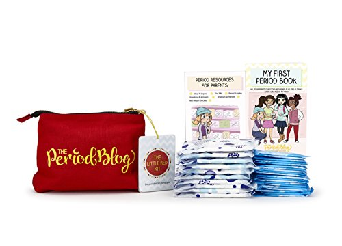 My First Period Kit - Supplied with 30 Feminine Products, Reversible Carrying Case, and Illustrated Booklets - Tween Period Kit with Guide for Kids and Parents by The Period (Parents Illustrated Guide)