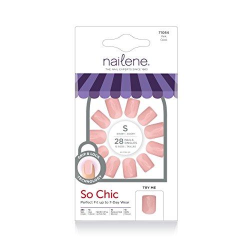 Nailene So Natural Nail, Pink High Gloss, 28 Count