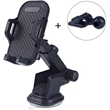 Palask Car Mount Holder For Phone ,One Touch 360° Rotating Car Mount Universal Phone Holder for iPhone 7S 6S Plus 6S 5S 5C,Samsung Galaxy S8 Edge S7 S6 Note 5,Google Pixel Pixel XL &Other Smartphone