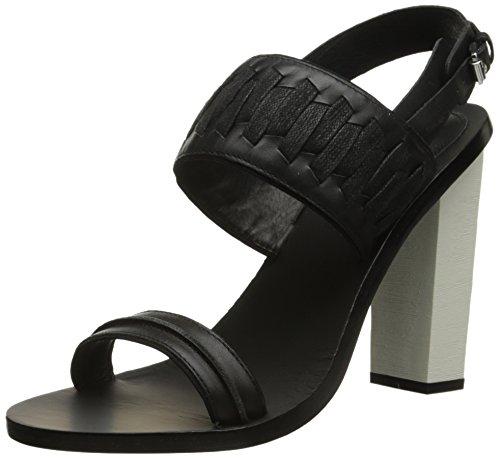 Sandalo Valoroso Da Donna In Agnello Nero