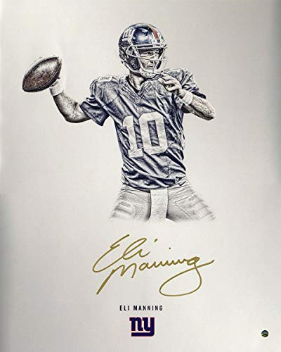 Eli Manning New York Giants Signed Platinum Collection 16x20 Photograph - Steiner Sports Certified - Autographed NFL Photos ()