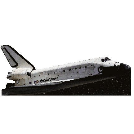 H69046 Flying Space Shuttle Cardboard Cutout -