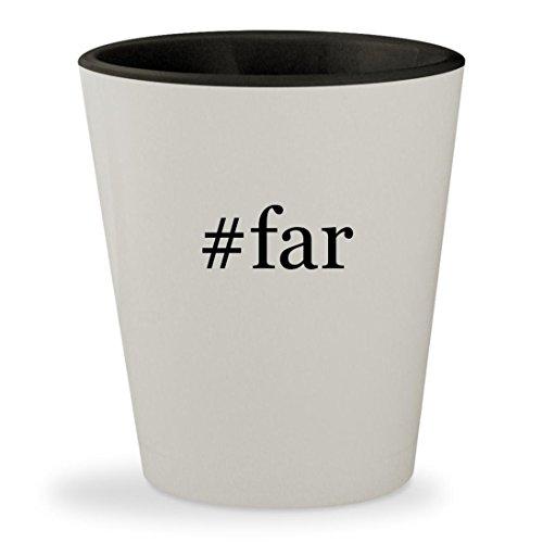#far - Hashtag White Outer & Black Inner Ceramic 1.5oz Shot Glass
