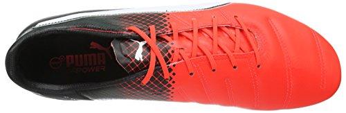 Puma evoPOWER 1.3 Lth FG Herren Fußballschuhe Rot (Red blast-puma white-puma Black 01)