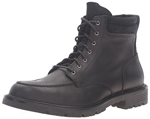 Cole Haan Men's Grantland 6 Inch Lace Up Wp Chukka Boot, Black, 7.5 M US (Cole Haan Lace Up Waterproof Suede Boots)