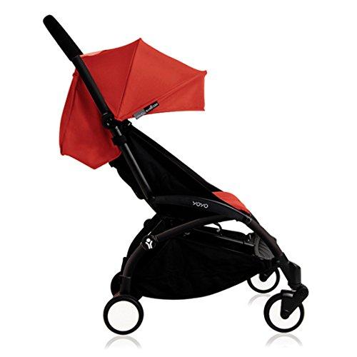 BabyZen Yoyo+ Stroller-Black Frame (Red)
