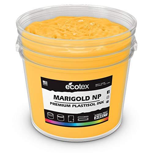(Ecotex Marigold Plastisol Ink for Screen Printing - Non Phthalate Formula (Quart))