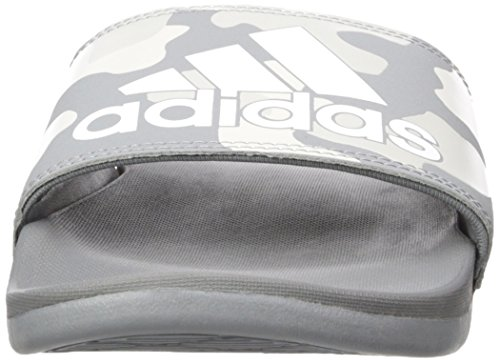 Adidas Heren Adilette Cf + Koppeling Gr Dia Sandaal Grijs Drie Stof, Ftwr Wit, Grijs Twee Stof