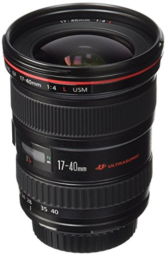 - Canon EF 17-40mm f/4L USM Ultra Wide Angle Zoom Lens for Canon SLR Cameras