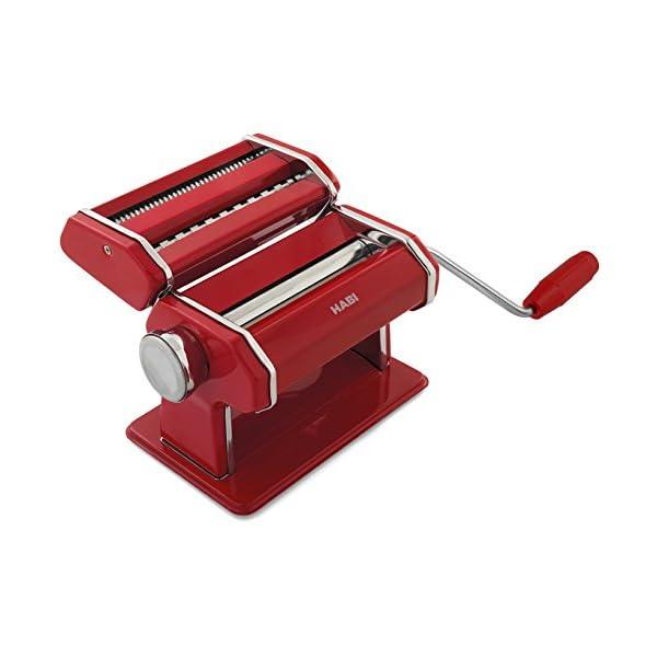 HABI 2494.0 Macchina per Pasta, Metallo, Rosso Scuro, 4 unità