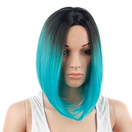 Cruz – Frontera Europea y americana moda peluca Color Blanco hembra bobo pelo color Tween peluca