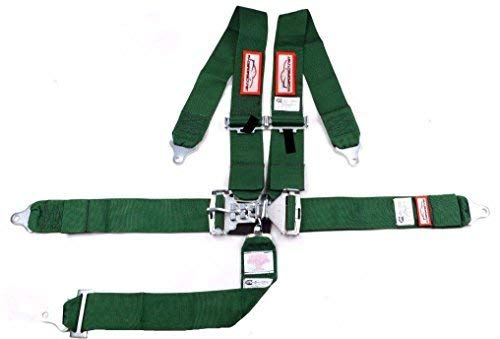 - Racerdirect.net 5 Point Race Harness SFI 16.1 Individual Roll Bar Mount, Bolt in, Pull Down Lap Belts Color Green