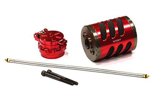 Integy RC Hobby BAJ258RED Type V Air Filter w/ Back Pressure Fuel Tank Cap for HPI Baja 5B2.0, 5T & 5SC (Hpi Savage Fuel Filter compare prices)