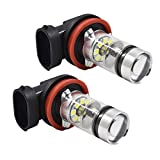 2x 6000k 12V 100W 1900LM Super White for H11 H8 for Fog Light 2323 LED 100W Driving Bulb replacements