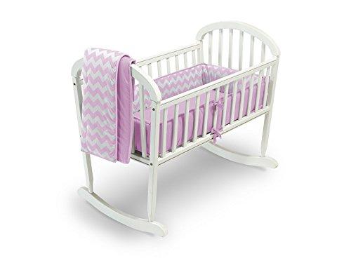 Baby Doll Bedding Chevron Cradle Bedding Set, Pink