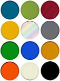 Pre-Cut 1-inch Fusible Glass Circle Multi Colors, 96 COE, 12-Pack - The Essential Jewelers Sampler Pack
