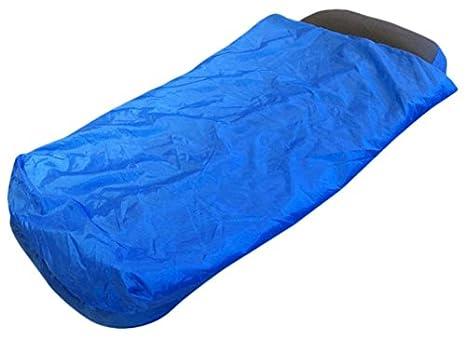 OCamp - Colchón inflable con saco de dormir integrado (para niño, 142 x 81 x 16 cm), color azul: Amazon.es: Deportes y aire libre