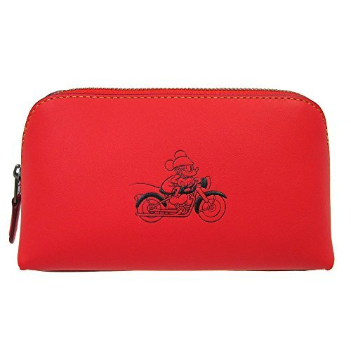 Disney x Coach 59820 COSMETIC CASE 17 IN GLOVE CALF LEATHER WITH MICKEY by Coach
