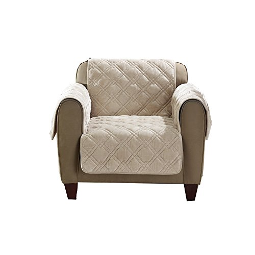 Sure Fit Plush Comfort Furniture Protector with Non Slip Backing, Chair, Taupe by Surefit (Image #1)