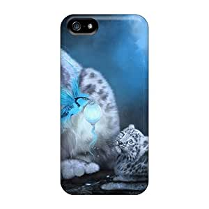 New Shockproof Protection Diy For SamSung Galaxy S4 Mini Case Cover Blue Snow Leopard Cases Covers