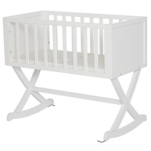 Dream On Me Haven Cradle, White