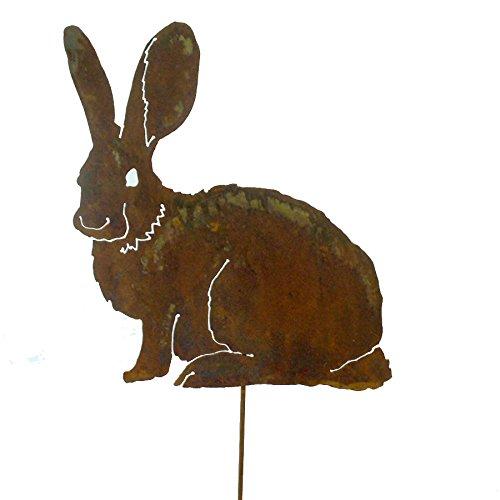 Mama Bunny Garden Pick, Rusty Patina