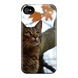 New Diy Design Cat In A Tree For Iphone 4/4s Cases Comfortable For Lovers And Friends For Christmas Gifts