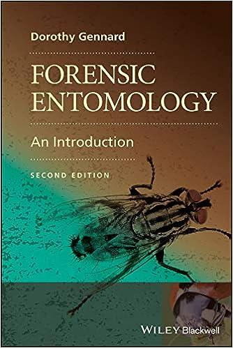 Forensic Entomology An Introduction 9780470689035 Medicine Health Science Books Amazon Com