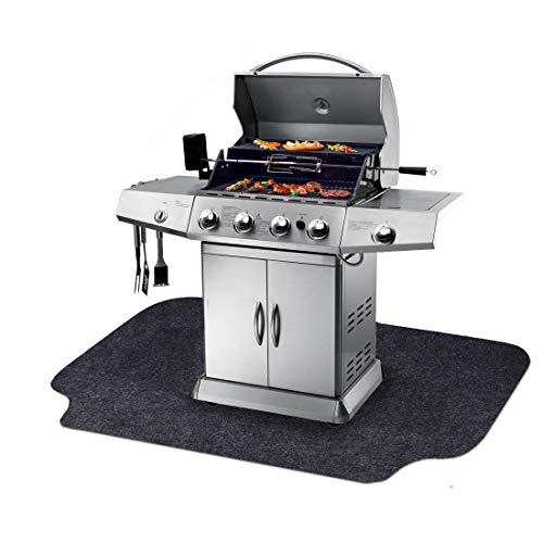Gas Grill Mat,BBQ Grilling Gear for Gas/Absorbent Grill Pad Lightweight Washable Floor Mat to Protect Decks and Patios…