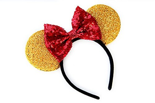 CL GIFT Winnie the Pooh Mickey Ears, Winnie the Pooh Ears, Beauty and the Beast Ears, Belle Ears, Belle Mickey Ears, Disney Inspired Beauty and the Beast Ears, Gold Minnie ears,