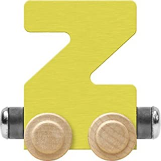 product image for Maple Landmark NameTrain Pastel Letter Car Z - Made in USA (Yellow)