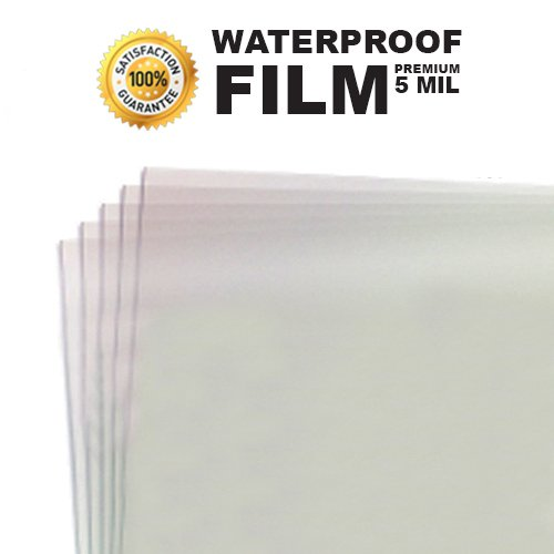 5 MIL - Waterproof Screen Printing Inkjet Film Transparency - Cut Sheets (11
