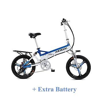 ZB-FH Alta calidad 240W 48V 10.4Ah 20 pulgadas Bicicleta eléctrica plegable, Marco