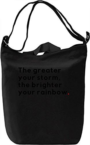 Brighter rainbow Borsa Giornaliera Canvas Canvas Day Bag| 100% Premium Cotton Canvas| DTG Printing|