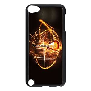 FOR Ipod Touch 5 -(DXJ PHONE CASE)-Love Guitar,Love Music-PATTERN 13