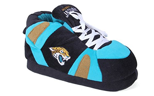Slippers and Mens LICENSED OFFICIALLY Sneaker Jacksonville Happy NFL Jaguars Womens Feet Comfy Feet vqHwTT