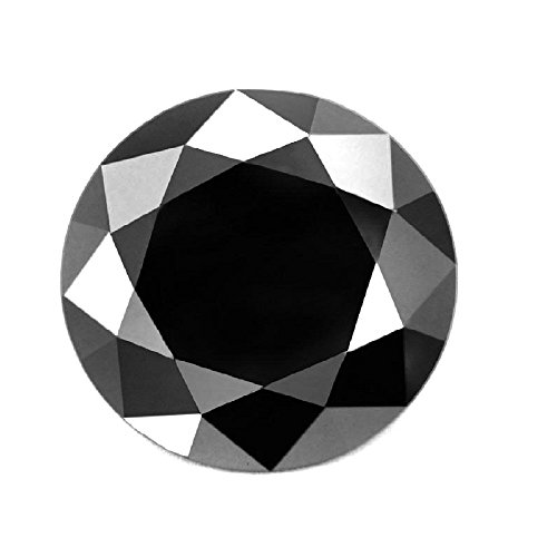 skyjewels 3 ct Black Diamond Round Brilliant Cut - Africa by skyjewels