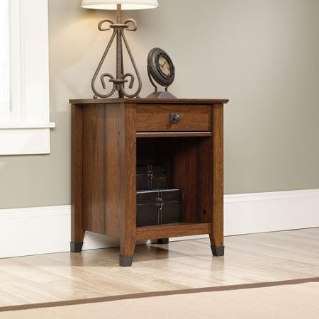 sauder-carson-forge-nightstand-washington-cherry