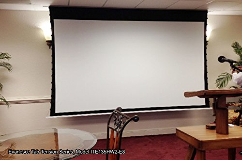 Amazon.com: Elite Screens Evanesce Tab Tension, 120 Inch 16:9, Tensioned In Ceiling  Projection Projector Screen, ITE120HW2 E8: Home Audio U0026 Theater