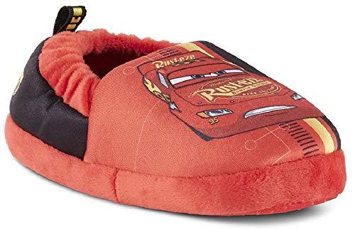 Disney Cars Boys Aline Slippers (Toddler/Little Kid) (7-8 M US Toddler, Red/Red)]()